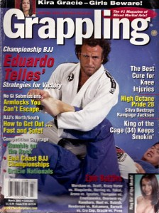 Telles on Grappling Magazine Cover 2005